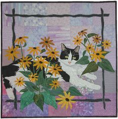 Ann Fahl cat quilt#Repin By:Pinterest++ for iPad#