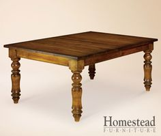 Montego Dining Table by Homestead Furniture made in Amish Country. Amish Furniture, Dining Furniture, Furniture Making, Narrow Dining Tables, Dining Room Table, Dining Rooms, Extension Table, Furniture Factory, Solid Wood