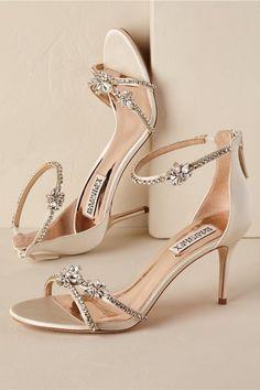 6ba2d9e9a6a Badgley Mischka crystal embellished heels - bridal shoes idea Stilettos