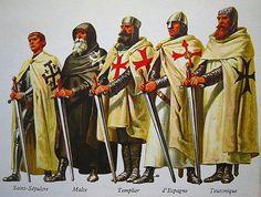 Pierre Joubert - Órdenes de caballería medievales: Del Santo Sepulcro, del Hospital, del Temple, de Santiago y Teutónica.
