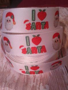 NEW ARRIVAL -  I Love Santa Grosgrain Ribbon by ILoveYouMoreCreation on Etsy