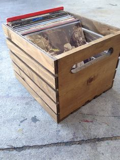 Hand Built Record Crate original by recirclematter on Etsy