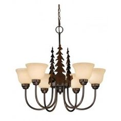 Buy the Vaxcel Lighting Burnished Bronze Direct. Shop for the Vaxcel Lighting Burnished Bronze Yosemite 6 Light Wide Chandelier with Tree Accents and save. Rustic Chandelier, Chandelier Shades, Glass Chandelier, Chandelier Lighting, Chandeliers, Rustic Lamps, Rustic Decor, Cabin Lighting, Wagon Wheel Chandelier