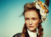 Sacai trench coat, Raoul dress, Hexa by Kuho shirt, Ashley Lloyd Millinery headpiece.
