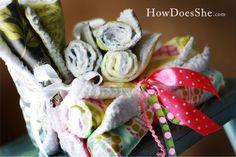 DIY Designer Baby Burp Cloths!