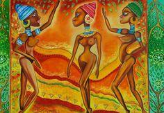 Original People  Pastellfarben auf Holz  Von Jeanett Rotter