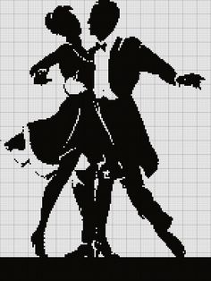 country n western Wedding Cross Stitch Patterns, Modern Cross Stitch Patterns, Cross Stitch Designs, Blackwork Embroidery, Cross Stitch Embroidery, Cross Stitch Music, Cross Stitch Silhouette, Loom Patterns, Filet Crochet
