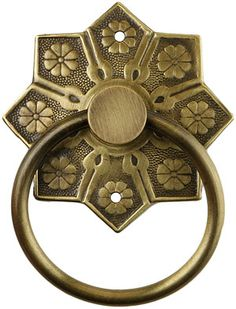 Eastlake Star Pattern Ring Pull In Antique-By-Hand | House of Antique Hardware