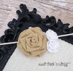 Hey, I found this really awesome Etsy listing at http://www.etsy.com/listing/163106386/burlap-flower-baby-headband-shabby