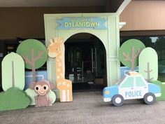 """Mayor Dylan's Charming """"My Own Little Town"""" Themed Party – Entrance Themed Parties, Party Themes, Party Ideas, Soft Colors, Green Colors, Pastel Palette, White Balloons, Green Party, Wild Ones"""