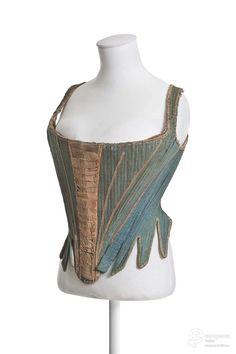 stays,1740-1760 - silk, linen, bone, metal - Musée des arts décoratifs, Paris, France