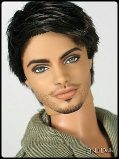 Ken with Black Hair Fashioninista Doll with Repainted Face