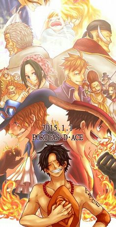 Happy Birthday Ace, text, characters, cool, Roger, Rouge, Garp, Whitebeard, Makino, Marco, Thatch, crew, Dadan, Sabo, Luffy, young, childhood, smiling, different ages, time lapse; One Piece