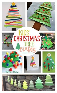 (KINDER: All great ideas [except popsicle sticks and cones]!)   Lots of fun Christmas tree crafts for kids!
