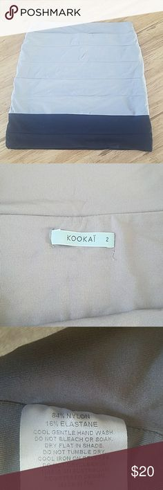 Kookai bandage mini skirt Kookai australia bandage skirt.  Last photo shows fit.  Kookai Size 2 is equivalent to a small. Skirts Mini