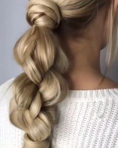 Stylish Braided Hairstyle That you Need # Braids peinados videos Braided Updo That is Just Awesome Easy Hairstyles For Long Hair, Loose Braid Hairstyles, Wedding Hairstyles, Updo Hairstyle, Everyday Hairstyles, Latest Hairstyles, Running Late Hairstyles, Ponytail Hairstyles Tutorial, Ponytail Updo