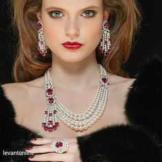 from Levant - Pearl Jewelry Ruby Jewelry, High Jewelry, Luxury Jewelry, Wedding Jewelry, Diamond Jewelry, Beaded Jewelry, Jewelry Art, Jewelry Necklaces, Beaded Necklace