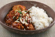 Country Captain with coconut rice: Indian-spiced chicken recipe
