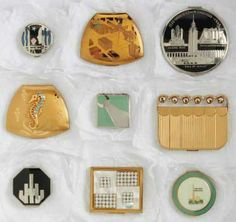 Art deco compact collection