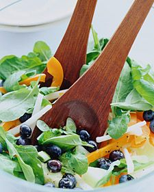 The subtle sweetness of blueberries is an unexpected addition to a salad of peppery arugula.Return to Healthy Blueberry Menu.