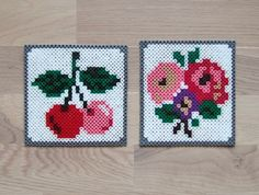 hama embroidery by Solgrim Perler Bead Templates, Diy Perler Beads, Perler Bead Art, Pearler Beads, Fuse Beads, Melty Bead Patterns, Hama Beads Patterns, Beading Patterns, Embroidery Patterns
