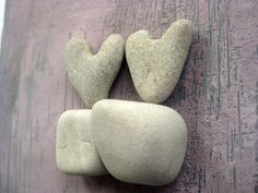 REDERVED Gift For Couple genuine Heart by MedBeachStones