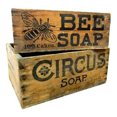 type wooden crates vintage circus