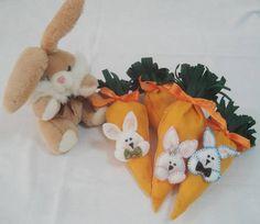 Embalagem Cenoura para Páscoa
