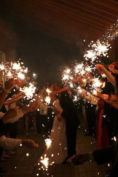 Sparklers are a great idea for weddings!