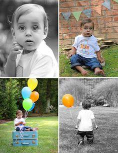 Cute first birthday photo shoot idea- comin right up!