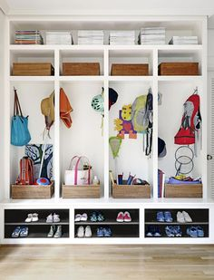Wish I had space for an organizer like this in my entryway! 30 Things You Need To Do Before Houseguests Arrive via @PureWow