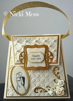 Made by Nicki Moss #spellbinders #weddingcard #handbagcard #getbritaincrafting