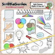Light Science ClipArt Package:37 items are included in this package: 18 color…