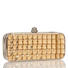 Just Fab Gold Clutch