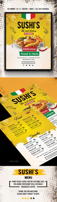 GraphicRiver Restaurant-Bar Magazine Ad or Flyer Template V2 - coupon flyer template