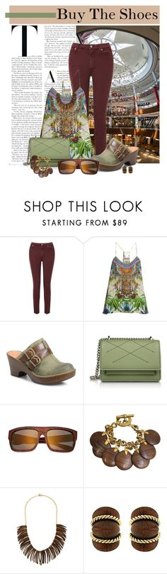 """""""Untitled #416"""" by riuk ❤ liked on Polyvore featuring 7 For All Mankind, Camilla, Børn, Earth, CÉLINE, Kenneth Jay Lane and Valentin Magro"""