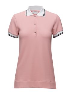 DAY - Polaris Waffle textured weave Polo collar and button placket Ribbed collar and cuffs Excellent quality and fit Functional Modern Practical Polo Golfer Golf Shirt Collar And Cuff, Golf Shirts, Waffle, Weave, Cuffs, Polo, Button, Chic, Day