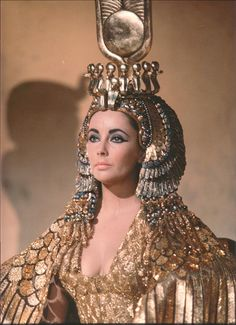 """Elizabeth Taylor as """"Cleopatra"""" I love her in this movie! One of my favorite movies!!"""