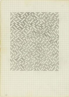 Anni Albers, Drawing from a notebook, (ca.) 1970