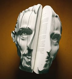Van Gogh.3D written portrait books.  the campaign, created by dutch agency van wanten etctera, was conceived by   markus ravenhorst and maarten reynen as part of dutch book week under the theme of (auto) biography.