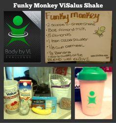 Funky Monkey ViSalus Shake Recipe http://losewithtay.bodybyvi.com