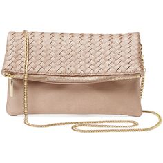 Deux Lux Woven Foldover Clutch found on Polyvore