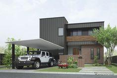 「LIXILカーポートSC」施工例 Garage House, My House, Carport Modern, Carport Sheds, Welding Design, Carport Designs, Japanese House, House Rooms, Building A House