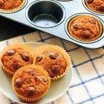 Chocolate Chip Pumpkin Banana Muffins with Whole Wheat Flour - Wishful Chef