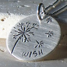 dandelion wish necklace - $58