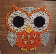 Owl string art https://www.etsy.com/listing/230037832