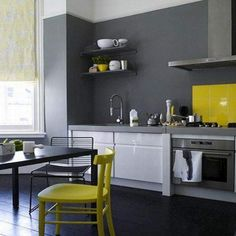 Gray and Yellow Home Decor