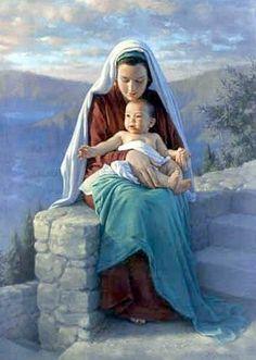 Kathy Lawrence: María y el Niño.