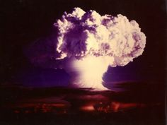 Ivy Mike, the first test of a thermonuclear weapon, on October 31/November 1, 1952.