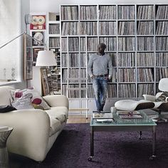 Love this room! It's London DJ Trevor Nelson's living room, as see in the latest issue of Living etc . Great color combinations: greys an...